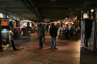 Underground Atlanta - Merchants lining the halls of Underground Atlanta in March, 2008.