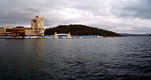 The Coeur d'Alene Resort, on Lake Coeur d'Alen...