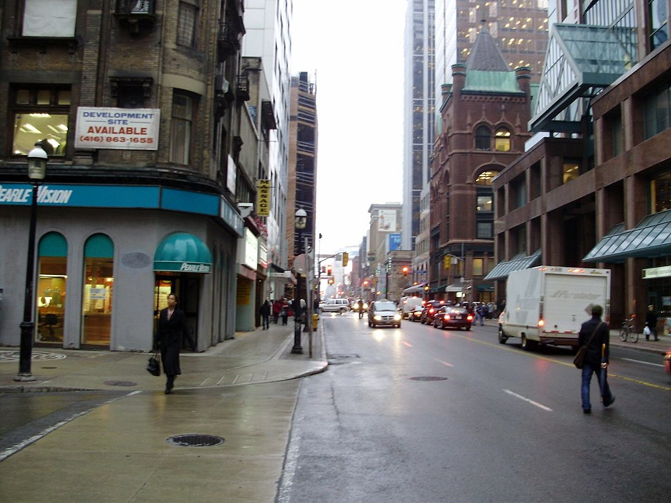 Looking north from Temperance Street in 2008