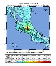 2009 Costa Rica Earthquake shakemap.jpg