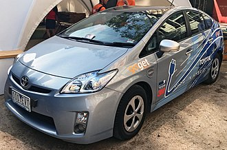 Toyota Prius Plug-in Hybrid - Toyota Prius Plug-In operating for GoGet CarShare
