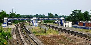 Newbury Racecourse railway station Railway station in the town of Newbury, Berkshire, England