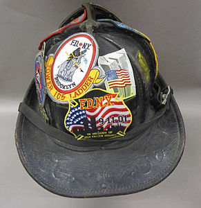 2011-191-2 Helmet, Fireman, Fire Department New York, Reverse.jpg