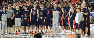 2012–13 Syracuse Orange men's basketball team - The 2012-2013 team at the Georgia Dome.