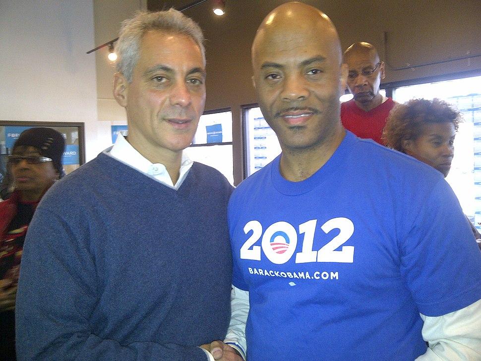 20121103 Rahm Emanuel and Antonio Vernon