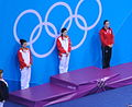 2012 Summer Olympics Women's Springboard Victory Ceremony.jpg