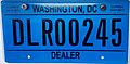 2013 Washington, D.C. dealer vehicle registration plate.JPG