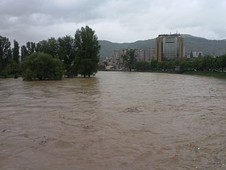 2014 Southeast Europe floods - Flooding in Zenica, 15 May 2014