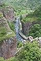 2014 Prowincja Wajoc Dzor, Dżermuk, Widok z mostu nad rzeką Arpa (08).jpg