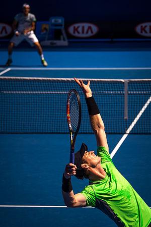 2015 Andy Murray tennis season - Murray playing Sousa at the 2015 Australian Open