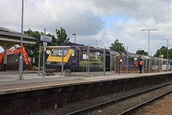 2015 at Chippenham station - demolishing footbridge 3 (43144).JPG