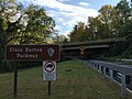 2016-10-19 16 16 45 View southeast along the Cabin John Parkway (Interstate 495-X) at the Clara Barton Parkway in Cabin John, Montgomery County, Maryland.jpg