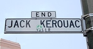 Jack Kerouac Alley - A street sign