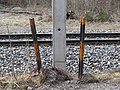 2018-01-28 (223) Barricades in front of overhead line for the Mariazellerbahn at Schloßgegend in Kirchberg an der Pielach.jpg
