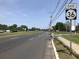 West Long Branch, New Jersey - Route 36 in West Long Branch