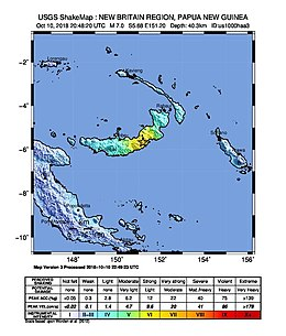 2018 October PNG New Britain Earthquake - Shakemap.jpg