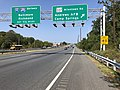 2019-10-01 12 23 48 View north along Maryland State Route 5 (Branch Avenue) at the exit for Maryland State Route 337-Allentown Road (Andrews Air Force Base, Camp Springs) in Clinton, Prince George's County, Maryland.jpg