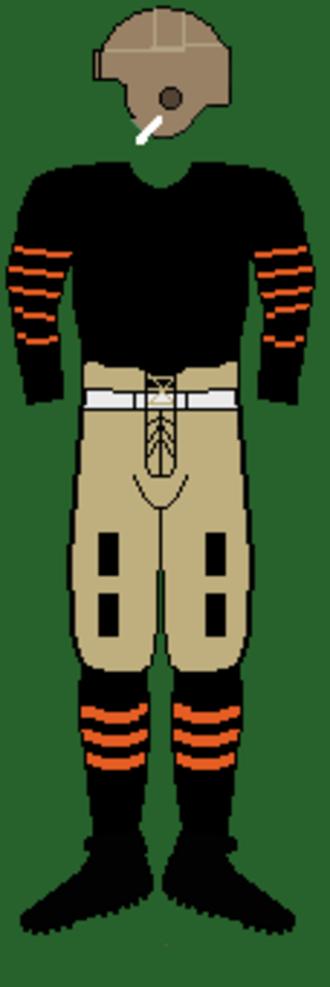 1921 Princeton Tigers football team - Image: 20sprincetonuniform 2