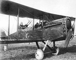 """278th Aero Squadron - Dayton-Wright DH-4 observation aircraft """"Katheleen"""" flown by the 278th Aero Squadron"""