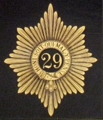 29th (Worcestershire) Regiment of Foot - Badge of the 29th (Worcestershire) Regiment of Foot