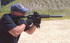 .300 AAC Blackout - 300 AAC Blackout rounds shot from a suppressed M4 Carbine.