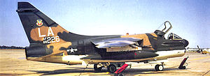 310th Fighter Squadron - Ling-Temco-Vought A-7D-3-CV Corsair II (68-6226) of the 310th TFTS, May 1971.