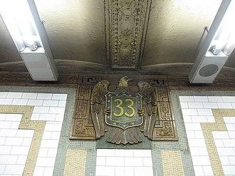 33rd Street (IRT Lexington Avenue Line) - Image: 33rd Street IRT 002
