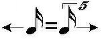 Metric modulation - Image: 4 5 Metric Modulation