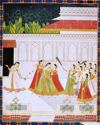 Harem - New entrant to a prince's harem. Jaipur, late 18 century, National Museum New Delhi