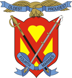 4th Marine Regiment (United States) - 4th Marine Regiment insignia