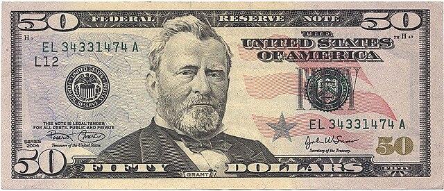 50アメリカ ドル紙幣