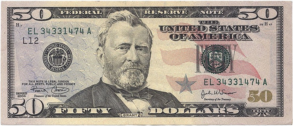 50 USD Series 2004 Note Front