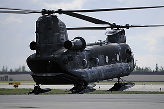 Fort Wainwright - CH-47 Chinook helicopter, assigned to B Company, 1st Battalion, 52nd Aviation Regiment.