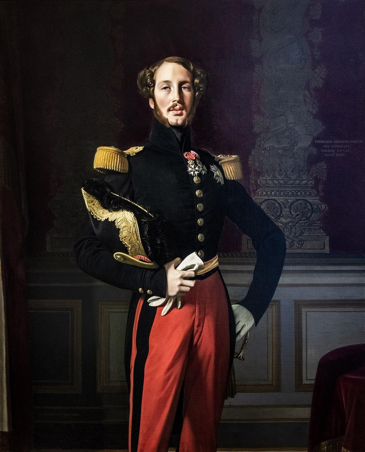 Le treize juillet - Alfred de Musset 1200px-75_-_Mus%C3%A9e_du_Louvre_-_Ferdinand-Philippe_d%27Orl%C3%A9ans_par_Ingres_-_RF_2005-13