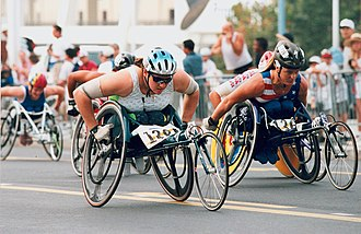United States at the 1996 Summer Paralympics - Australian and American athletes at the 1996 Summer Paralympics.