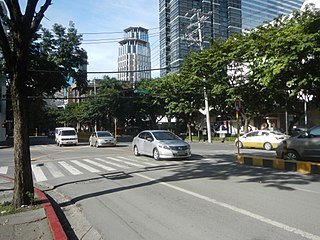 Paseo de Roxas avenue in Makati, Philippines
