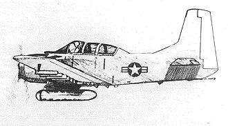 Operation Shed Light - Artist's interpretation of an A-1E aircraft with podded LLLTV
