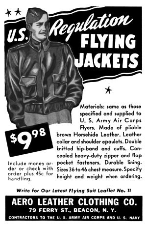 Leather jacket - An A-2 U.S. regulation bomber jacket.