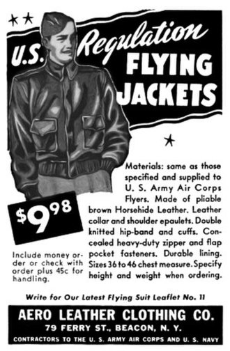 Leather jacket - An A-2 U.S. regulation bomber jacket.