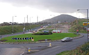 A1 road (Northern Ireland) - Image: A1 Cloghogue Roundabout