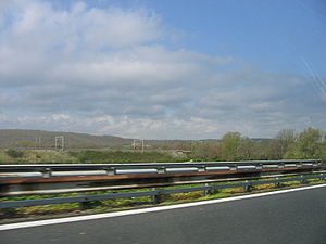 Florence–Rome high-speed railway - Direttissima from the A1 near Orte