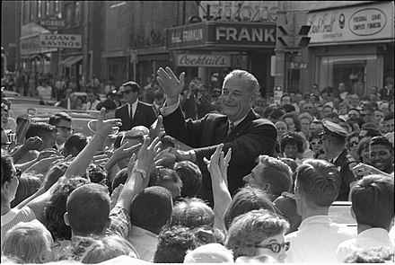 Johnson greeting a crowd, 1966 A2738-19a small.jpg