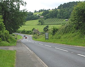 A4136 road - Image: A4136 to Monmouth geograph.org.uk 486730