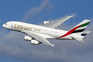 Airbus A380 - Image: A6 EDY A380 Emirates 31 jan 2013 jfk (8442269364) (cropped)