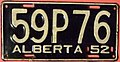 "ALBERTA 1952 passenger plate, large ""P"" in the third position - Flickr - woody1778a.jpg"