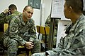 A Croatian soldier, left, speaks with a U.S. Soldier assigned to the Joint Multinational Readiness Center in Hohenfels, Germany, during exercise Immediate Response 2013 in Zagreb, Croatia, Aug. 25, 2013 130825-A-WB953-465.jpg