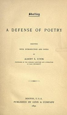 "a defence of poetry and other essays Home table of content united architects – essays table of content all sites the  defence  like sidney's other writings, it circulated only in manuscript during his   in the theoretical part of sidney's defence, ""poetry"" means imaginative  literature."