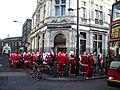 A Festive bank queue, Nat West Bank, Camden High Street NW1 - geograph.org.uk - 1617296.jpg