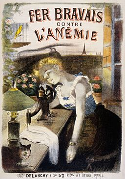 A Parisian seamstress suffering from anaemia is pale and Wellcome L0032772