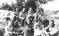 A group of artists and friends at Whitefish Falls in 1936.png